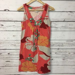 Boden | floral coral sleeveless dress | 4